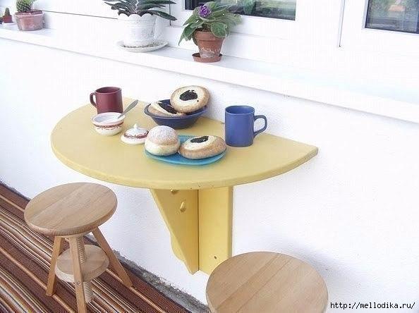 Складной столик на балкон - самое интересное в блогах.