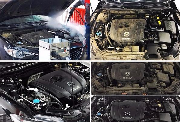 мойка двигателя паром (595x404, 250Kb)