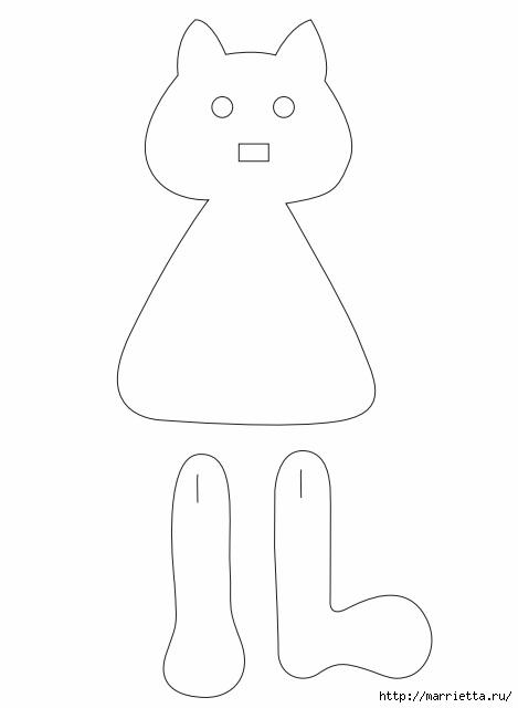 Выкройка куклы Ведьмочки с черной кошкой (4) (469x640, 37Kb)