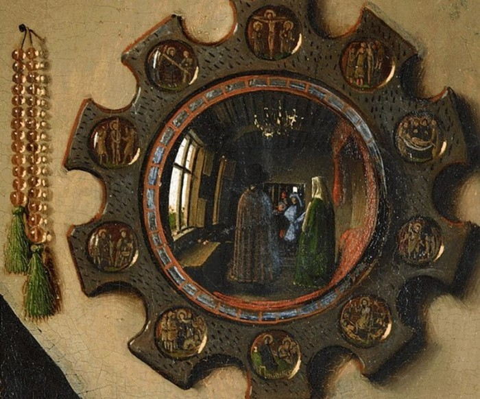 Mirror puzzles in famous paintings