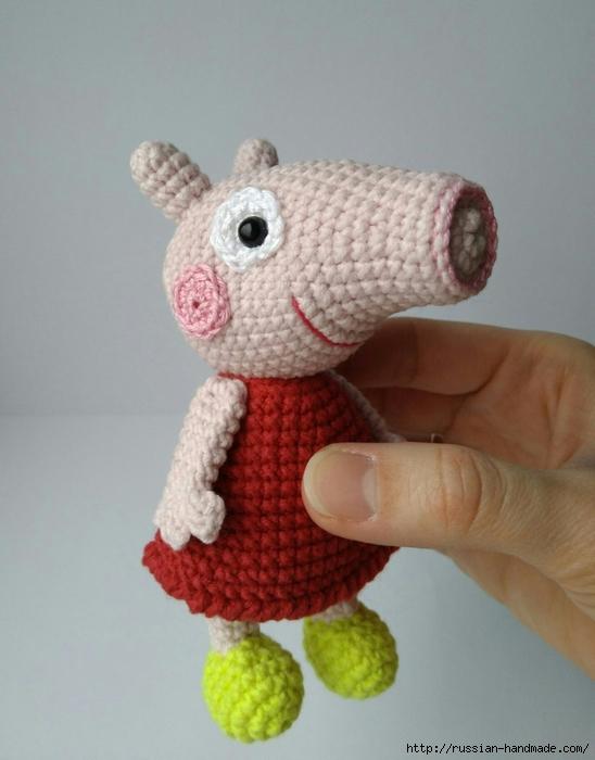 Вязание крючком маленькой свинки ПЕППИ (2) (548x700, 204Kb)