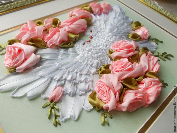 Вышивка лентами для свадьбы 32