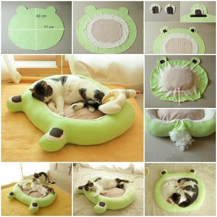 Сшить кровать для кошки