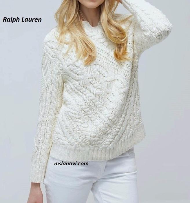 вязание пуловера поло