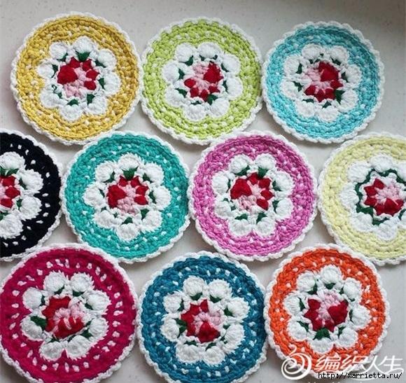 Крючком. Цветочный мотив с розой (2) (580x547, 321Kb)