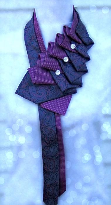 Идеи из галстуков своими руками