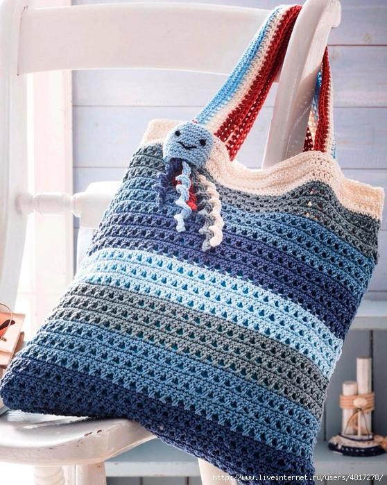 Вязание крючком пляжные сумки 28