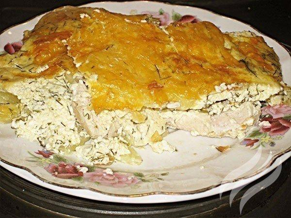 куриная запеканка с картофелем и сыром