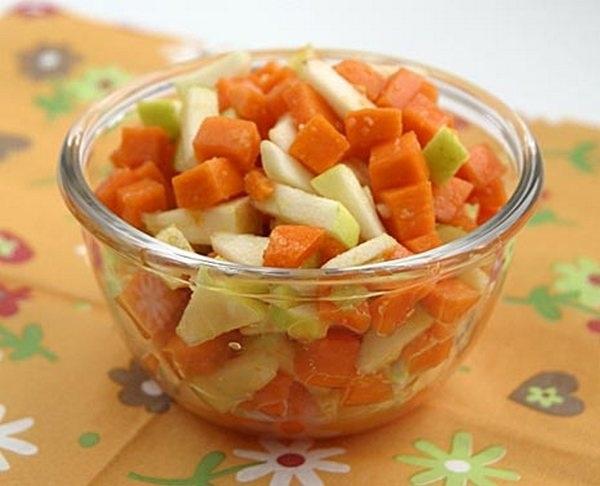 Замечательный салат из тыквы