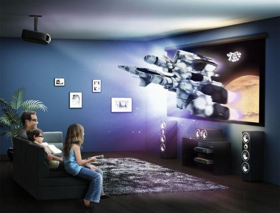 Мультимедийный проектор в качестве домашнего кинотеатра? Пожалуйста!