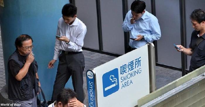 отпуск некурящим сотрудникам японской компании (700x367, 361Kb)