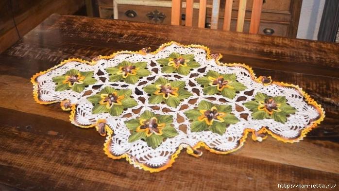 Декоративная салфетка крючком с цветами (1) (700x393, 249Kb)