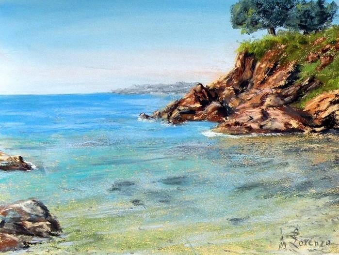 Пастельное море художника Лоренсо Рапелли