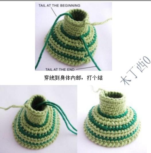 Вязание амигуруми. Куколка Лягушка (7) (526x534, 154Kb)