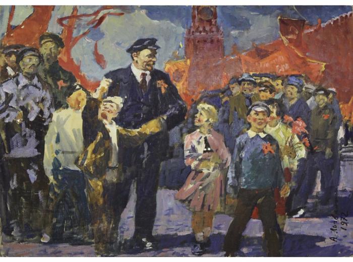 Логвинюк А.-А. - Красная площадь, встреча (1972) (700x520, 428Kb)