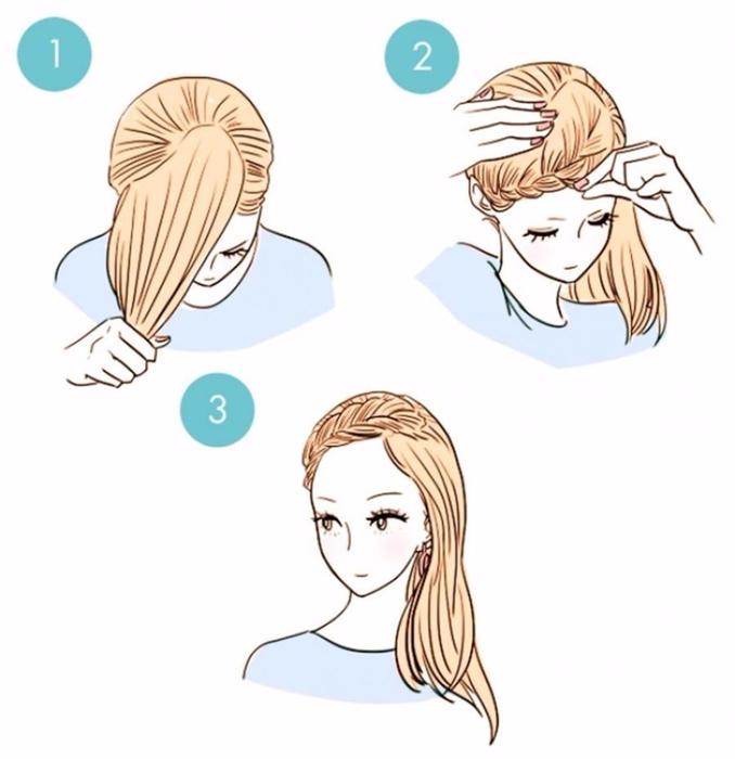 5. Ободок в виде косы прекрасно подойдет для свидания, придав романтичности вашему образу. (678x700, 218Kb)