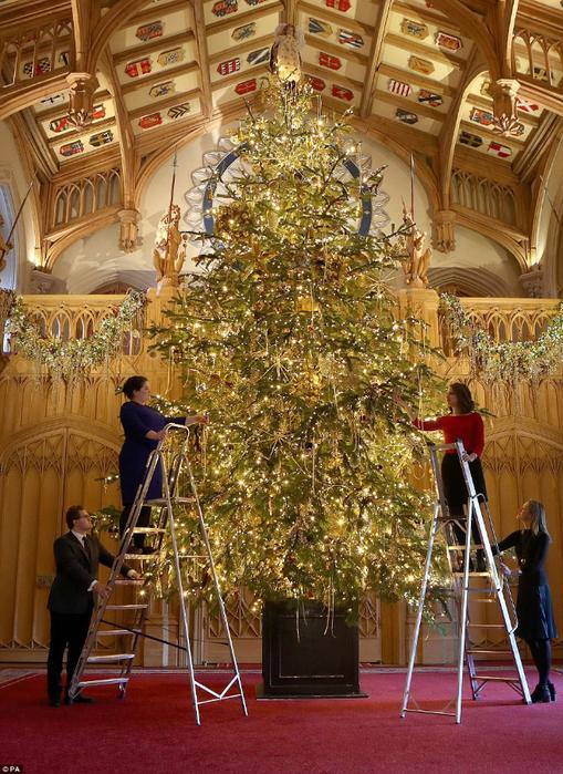 подготовка к рождеству в винзорском замке