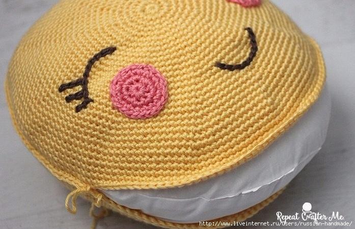 Крючком. Детская подушка «Солнышко» (4) (697x450, 239Kb)