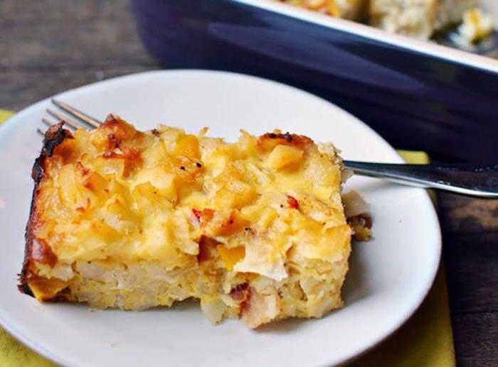 Рецепт картофельной запеканки с беконом