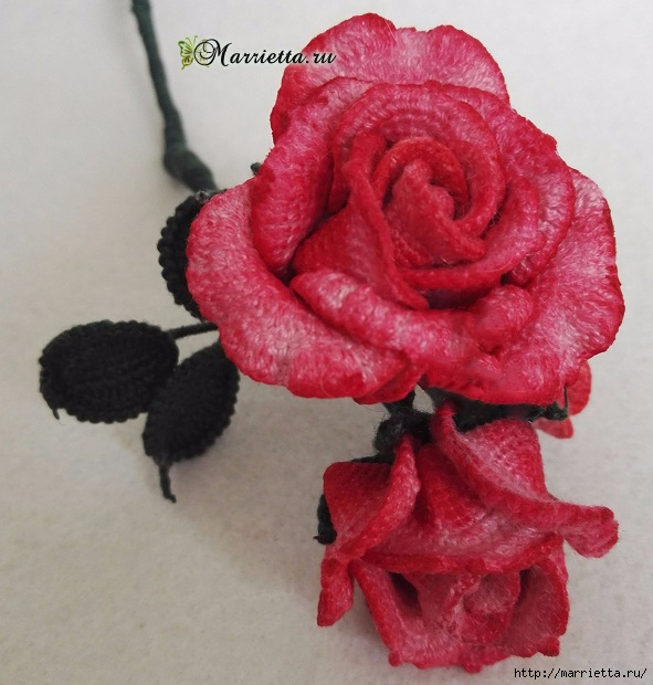 Розы и гортензии крючком. Схемы вязания (13) (591x620, 209Kb)