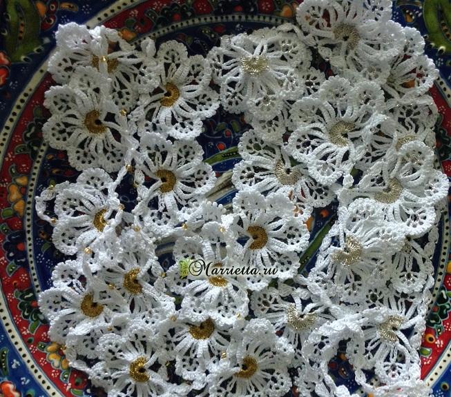 Сережки и ожерелье крючком. Схемы вязания (4) (653x576, 437Kb)