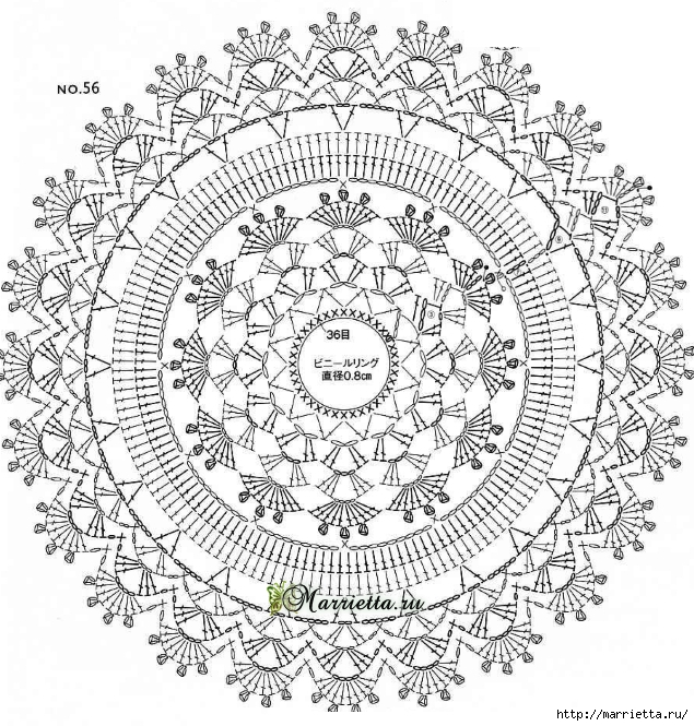 Театральная сумочка крючком. Схема (2) (635x665, 403Kb)