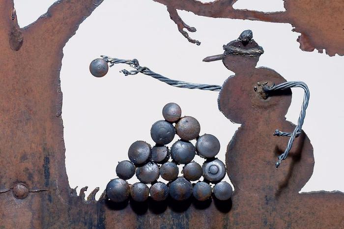 ржавые лопаты художницы Синди Чинн 7 (700x466, 285Kb)