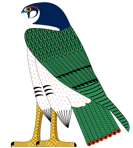 450px-Horus_as_falcon.svg (450x500, 154Kb)