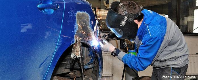 "alt=""От чего зависит качество ремонта автомобиля?""/2835299_Kyzovnoi_remont_i_pokraska_avtomobilei1 (700x284, 150Kb)"
