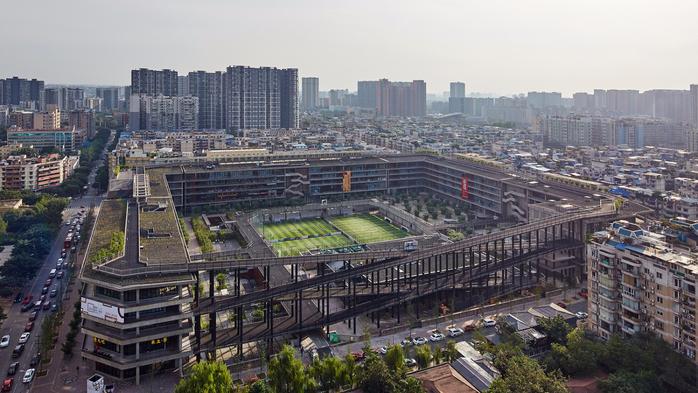 современная китайская архитектура West Village 1 (700x393, 382Kb)