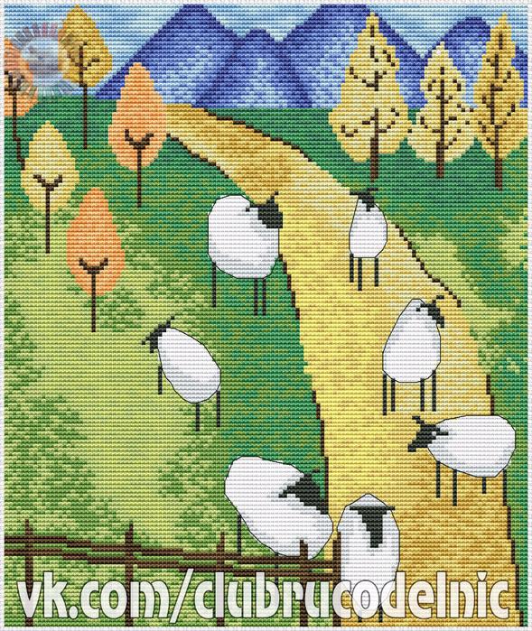 Sheep Farm (589x700, 750Kb)