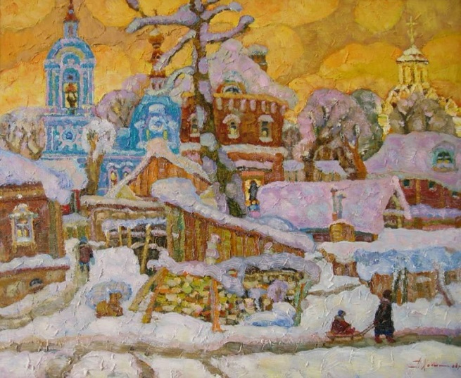 Владимир зимний. Вечереет (655x537, 373Kb)