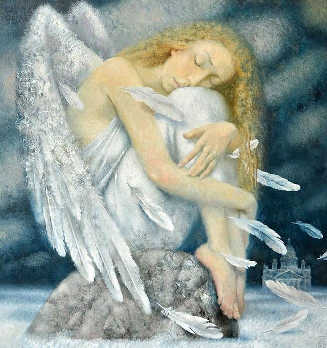 Светлый ангел груст (657x700, 124Kb)