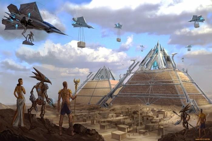 Египетские пирамиды. Кто их построил?
