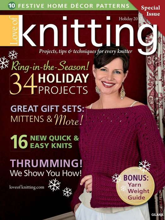 Love of Knitting — Holiday 2012.