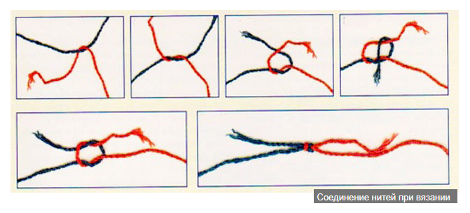 Как соединить нить при вязании без узла 33