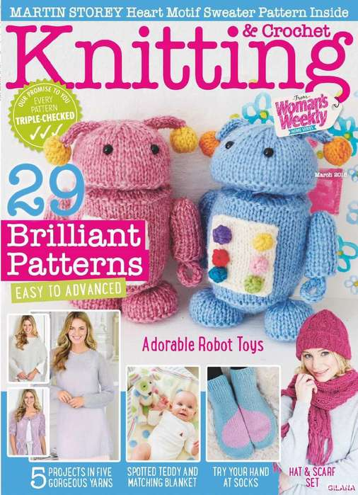 Knitting & Crochet from Woman's Weekly March 2018.