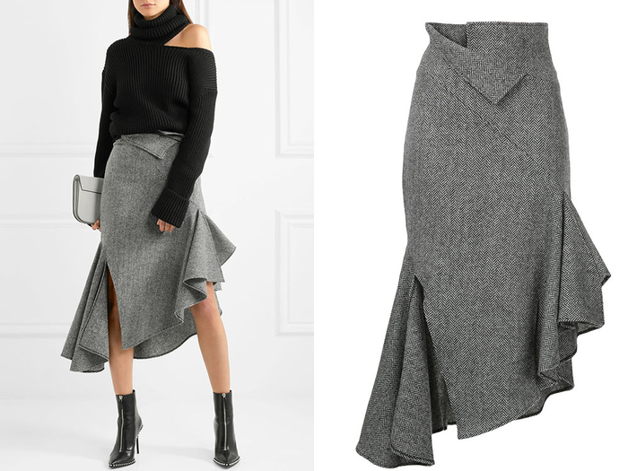 [Шитье] Роскошная юбка с цельнокроеными воланами от MONSE