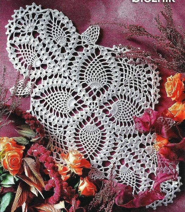 Вязание ковров из шнуров крючком со схемами 2