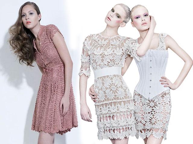 Вязаные крючком модные модели