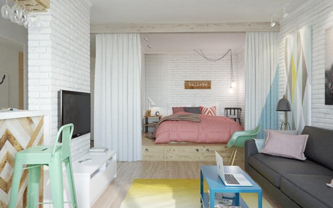 141143110 image007 20 толковых идей для однокомнатной квартиры