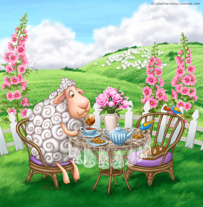 sheep_tea_time_by_liaselina-d7xnukv (686x700, 622Kb)