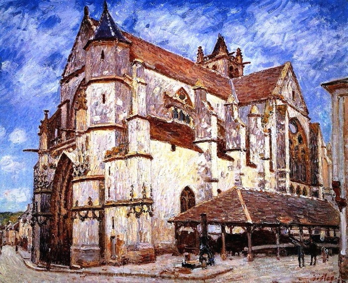21 The Church at Moret, Afternoon (700x568, 594Kb)