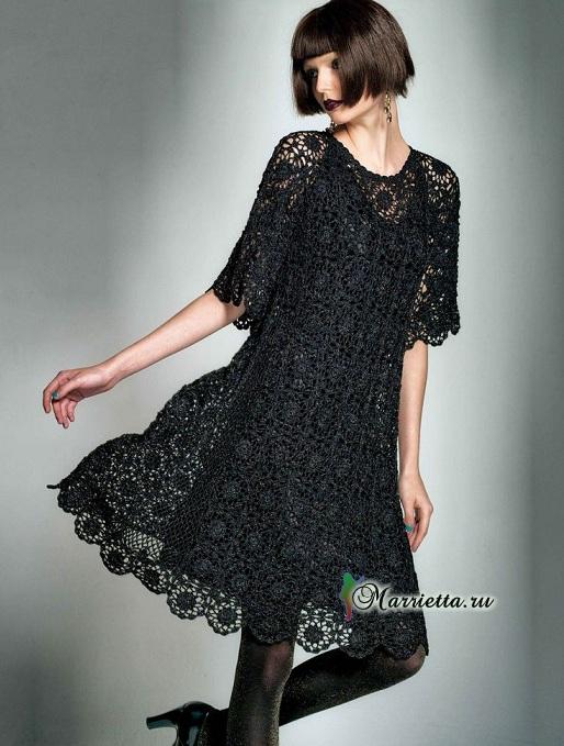 Очень красивое черное платье крючком (1) (514x679, 245Kb)