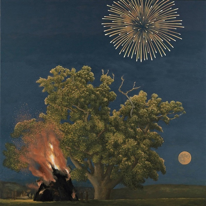 Oak Tree, Bonfire, Moon and Firework, 2012 (detail) (700x700, 482Kb)