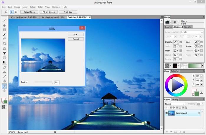 Бесплатный Artweaver   графический редактор с широким набором эффектов и инструментов