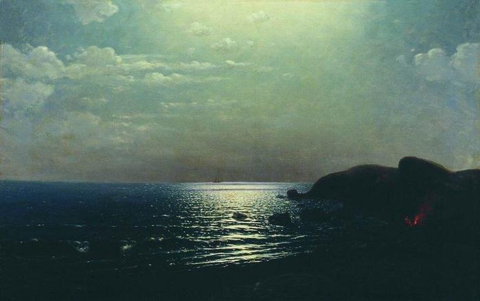 А.И. Куинджи. Лов рыбы на Черном море. 1900 (700x439, 95Kb)