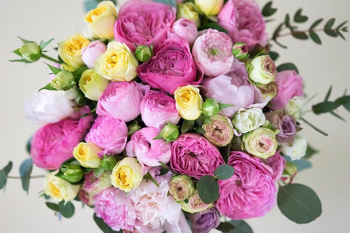 Открытки с розами или пионами 95