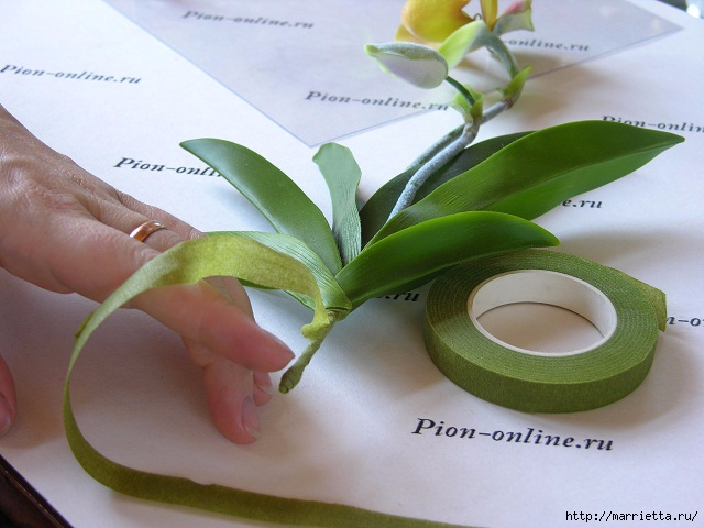 Орхидея Леди Слиппер из полимерной глины