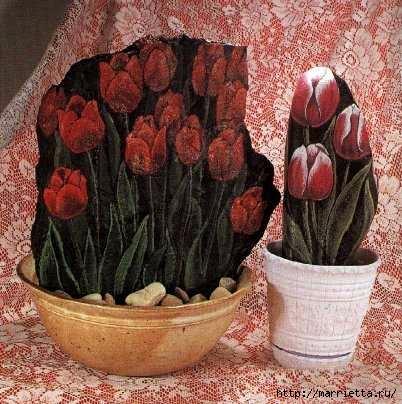 Тюльпаны на камне. Техника росписи (1) (402x404, 132Kb)